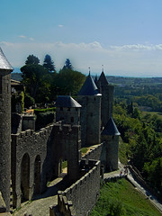 Carcassonne (darkroomdenny) Tags: city france castle fuji medieval finepix chateau carcassonne walled
