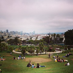 Dolores Park in San Francisco. Thanks to @_andrewlee for taking me around!