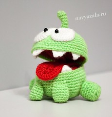 Om Nom from Cut The Rope (DolphinART) Tags: new baby game cute green kids toy cool candy handmade critter character crochet cartoon adorable newyear plush gift hero kawaii amigurumi вязание игра зеленый игрушка монстр новыйгод casuale конфета monstr герой персонаж omnom крючок амигуруми cuttherope мультяшный navyazala амням