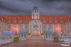 KURHAUS BINZ NIGHT (Henry von Huch) Tags: sea building night photoshop germany lights hotel long exposure baltic filter adobe nik ruegen hitech haida binz topaz lightroom formatt nd10