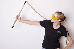 """Zoë with whip - used to demonstrate sonic boom • <a style=""""font-size:0.8em;"""" href=""""http://www.flickr.com/photos/66389448@N03/15137331532/"""" target=""""_blank"""">View on Flickr</a>"""