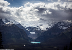 The mystical lake louise (fea campos) Tags: travel sky canada mountains nature clouds landscape nationalpark north parks glacier alberta banff mystical lakelouise canadianrockies