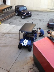 """I spy my golf cart! @ButlerU_EDDP getting it ready for a photo shoot today and Homecoming next week. • <a style=""""font-size:0.8em;"""" href=""""http://www.flickr.com/photos/73758397@N07/15267746745/"""" target=""""_blank"""">View on Flickr</a>"""