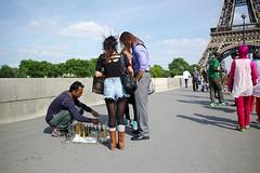 Parisian #138 (人間觀察) Tags: road street leica ltm trip people paris france travelling walking day path candid voigtlander 28mm eiffeltower stranger parisian m9 l39 f19 voigtlander28mmf19 leicam9