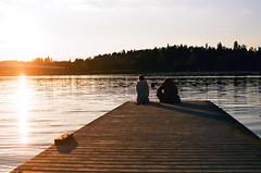 (Nicola Abraham) Tags: ocean light sunset sea film analog 35mm finland helsinki jetty nikonf100 rastila