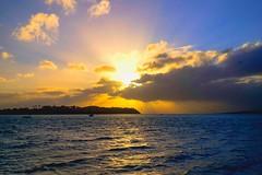 Sunset (mrdese333) Tags: ocean blue sunset sea sky cloud sun water weather skyline season photography gold town fuji view outdoor auckland fujifilm sealevel xe2 xf1024mm