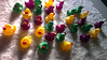 Darlo Ducks - a salted 277 Instant Install (spiky face) Tags: salt ducks plastic coloured rubberducks rubberduckie cityofsydney pamelaleebrenner coloredducks intersectarts shorttermcreativetenancy poolsalt colouredducks