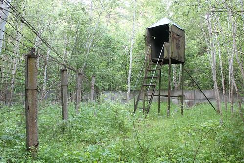 Wachturm beim Bunker Fürstenberg NT, DDR