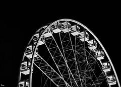 wheel (TeRo.A) Tags: bw wheel helsinki ferriswheel
