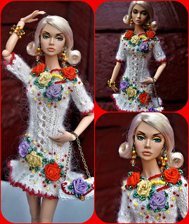 Dress, bag, jewelry, clothes for Fashion Royalty Poppy Parker Barbie FR2