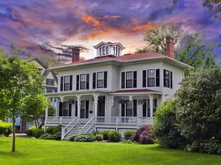 Canandaigua  New York  ~ Historic Mansion ~ Italianate Victorian  Architecture