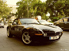 BMW Z8 (boti_marton) Tags: bmw z8 roadster car sportcar rarecar city cityscape budapest hungary magyarország europa sunset panasonic dmc lz20 lumix