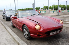 TVR Chimaera 400 (D's Carspotting) Tags: tvr chimaera 400 france coquelles calais red 20100613 t4ltr le mans 2010 lm10 lm2010