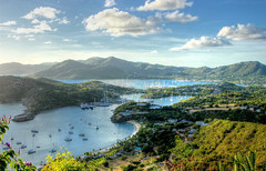 English and Falmouth Harbours (robin denton) Tags: antigua caribbean caribe westindies island landscape hdr seascape galleonbeach beach