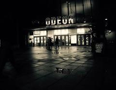56/365 The Cinema (denise.ferley) Tags: norwich city citylife odeon oneaday streetphotography street sonynex5 peoplewatching people pavement life fun night nighttime cinema bw blackandwhitephotography uk urban england 365 3652017 fanaticalaboutfilm