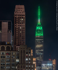 Nelson Tower and ESB (20170317-DSC08787-Edit) (Michael.Lee.Pics.NYC) Tags: newyork aerial hotelview wyndhamnewyorker 34thstreet esb empirestatebuilding nelsontower stpatricksday night longexposure architecture cityscape sony a7rm2 fe2470mmf28gm