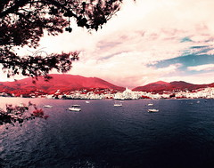 Cadaqués (santisss) Tags: cadaqués pentax 6x7 takumar 35mm fisheye orange filter infrared film aerochrome kodak eir expired