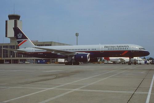 British Airways Boeing 757-236; G-BIKW@BSL, June 1986
