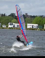Remembering how to windsurf! (Durnag) Tags: farm iii croft raptor sail techno windsurfing bic windsurf 280 tewkesbury overpowered 74m tushingham