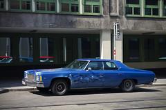 1974 Chevrolet Impala 4-Door Sedan - Custom (konceptsketcher) Tags: vienna auto street city blue usa classic cars chevrolet car sedan skulls photography austria 1974 europe paint flames american custom impala 2014 4door canon1100d konceptsketcher