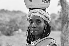 Fulani Woman Portrait (Irene Becker) Tags: africa portrait people bw woman face village muslim islam portraiture westafrica nigeria islamic kaduna fula fulbe blackafrica kadunastate arewa nigéria kajuru northernnigeria fulanipeople irenebecker nigerianimages nigerianphotos imagesofnigeria northnigeria irenebeckereu hausaland