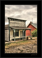 1880's Town South Dakota (the Gallopping Geezer 3.8 million + views....) Tags: park wood building abandoned museum southdakota rural canon wooden village display decay structure faded worn western ghosttown weathered 2008 wildwest decayed geezer corel murdo oldwest 1880town