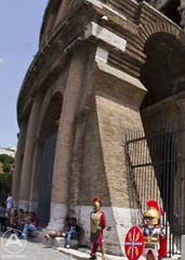 Roman soldier visits the Colosseum (AgeOwns.com) Tags: travel italy rome roman colosseum playmobil