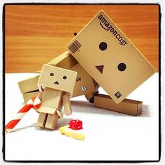 Geek:  ( ) (TURBOW) Tags: square toy lofi squareformat figure danbo danboard iphoneography instagramapp uploaded:by=instagram