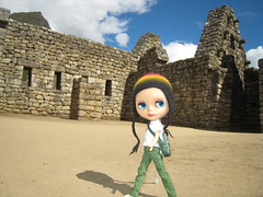 Enriqueta stomping around Machu Picchu