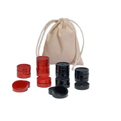 Wood Backgammon Chips with Cloth Pouch - Red & Black 1 in. diameter Review (nicholebegonia) Tags: wood black review chips pouch cloth backgammon diameter