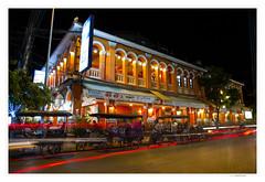 Cambodia  -  Siem Reap by night (AlainBadoual) Tags: street old night restaurant pub asia cambodge cambodia market mexican siem reap tuktuk viva