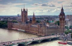 Big Ben (G.W. Photography) Tags: bridge london clock thames boat londoneye bigben belltower 2009 hdr westminsterbridge elizabethtower thepalaceofwestminster