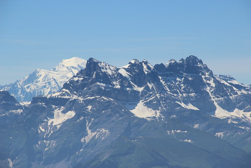 Dents du Midi and Mont Blanc