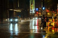 Stormy Night in the City (benchorizo) Tags: city chicago storm wet rain nikon downtown nightshot chicagoist banias d7000 benchorizo romeobanias