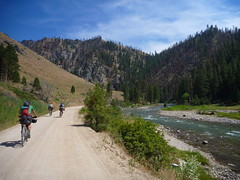 Mid Fork Scenery (RSpinnaKing) Tags: road atlanta party mountain hot get bike river ride time rad fork idaho boise route dirt springs middle touring featherville limberlost bikepacking