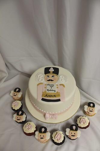 Nutcracker ballerina cake and cupcakes