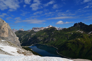 Lago del Fedaia e Gruppo del Sella sullo sfondo!