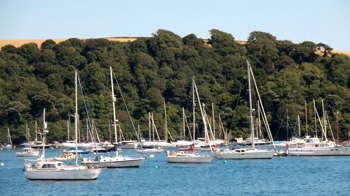 boats sailing moored