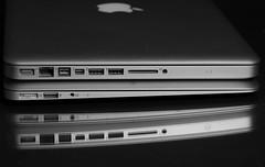 Macbooks Air and Pro (Jemlnlx) Tags: bw white 3 black apple 30 canon computer notebook eos mac i5 mark laptop air iii 100mm intel usb pro l 5d usm f28 2012 133 thunderbolt ultrasonic macbook 3210m
