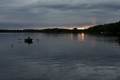 Lake Saimaa at Summer Solstice (tommigunnars) Tags: lake finland boat twilight row solstice lappeenranta saimaa