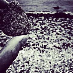Rocky shore (forte.tyler) Tags: blackandwhite beach me rock sand rocks please rhodeisland newport believe justinbeiber