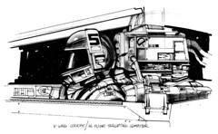 x-wing fighter cockpit by Joe Johnston (Tom Simpson) Tags: art illustration design sketch starwars cockpit xwing spaceship conceptart xwingfighter joejohnston