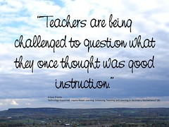"""Educational Postcard: """"The profession of education is changing"""" (Ken Whytock) Tags: school students education thought revolution question learning change teaching teachers instruction transform inquiry evolve challenged professionalgrowth"""