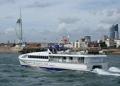 Wight Ryder 2 (IndiaEcho Ships) Tags: sea 2 england water ferry speed port canon eos boat high dock ship harbour craft vessel hampshire ii catamaran wightlink portsmouth ryder naval base wight 1000d