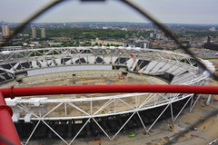 The Arcelor Mittal Orbit Tower, View From The Top Of The Tower (Martin Pettitt) Tags: city summer london tower architecture dslr legacy olympicpark stratford viewfromthetop queenelizabeth olympics2012 2014 viewingplatform theorbit londongames stockcategories afsdxvrzoomnikkor18200mmf3556gifedii nikond7100 arcelormittalorbittower