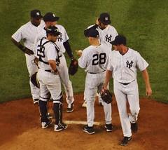 Thornton Departs (Brule Laker) Tags: baseball bronx texasrangers yankeestadium newyorkyankees mlb americanleague