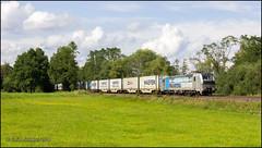 25 Juli 2014 - EVB 193 806 - Unterhaun (EnricoSchreurs) Tags: train canon eos july railway zug evb container juli trein 193 2014 806 600d verkehrsbetriebe eisenbahnen gmbh unterhaun vectron elbeweser nordsdstrecke