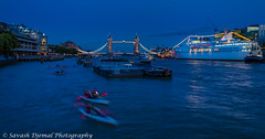 Cruising on the Thames DSC_3732.jpg (Sav's Photo Gallery) Tags: uk london thames towerbridge nightscape riverthames canoeists oceanmajesty d7000 savash