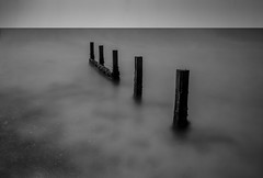 'What Lies Beneath' (Robgreen13) Tags: ocean uk longexposure shadow bw seascape seaweed beach canon island eos mono islands coast waterfront cloudy shoreline coastal minimalism guernsey channel groynes vazon 650d 10stopper yahoo:yourpictures=landscape yahoo:yourpictures=coastal