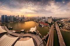 Ignite (Scintt) Tags: city travel light sunset sky urban panorama money tourism skyline architecture modern clouds marina buildings fun happy hotel bay hall singapore day mood glow cityscape place skyscrapers district pano rich towers central structure parade business entertainment celebrations national sector ndp cbd exquisite sands expensive resorts exploration financial stitched exclusive banks casion offices joyous mbs raffles integrated skypark 2014 scintillation scintt